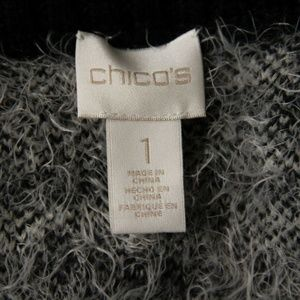 Chico's Jackets & Coats - Chico's Womens Sweater Cardigan Vest Black White